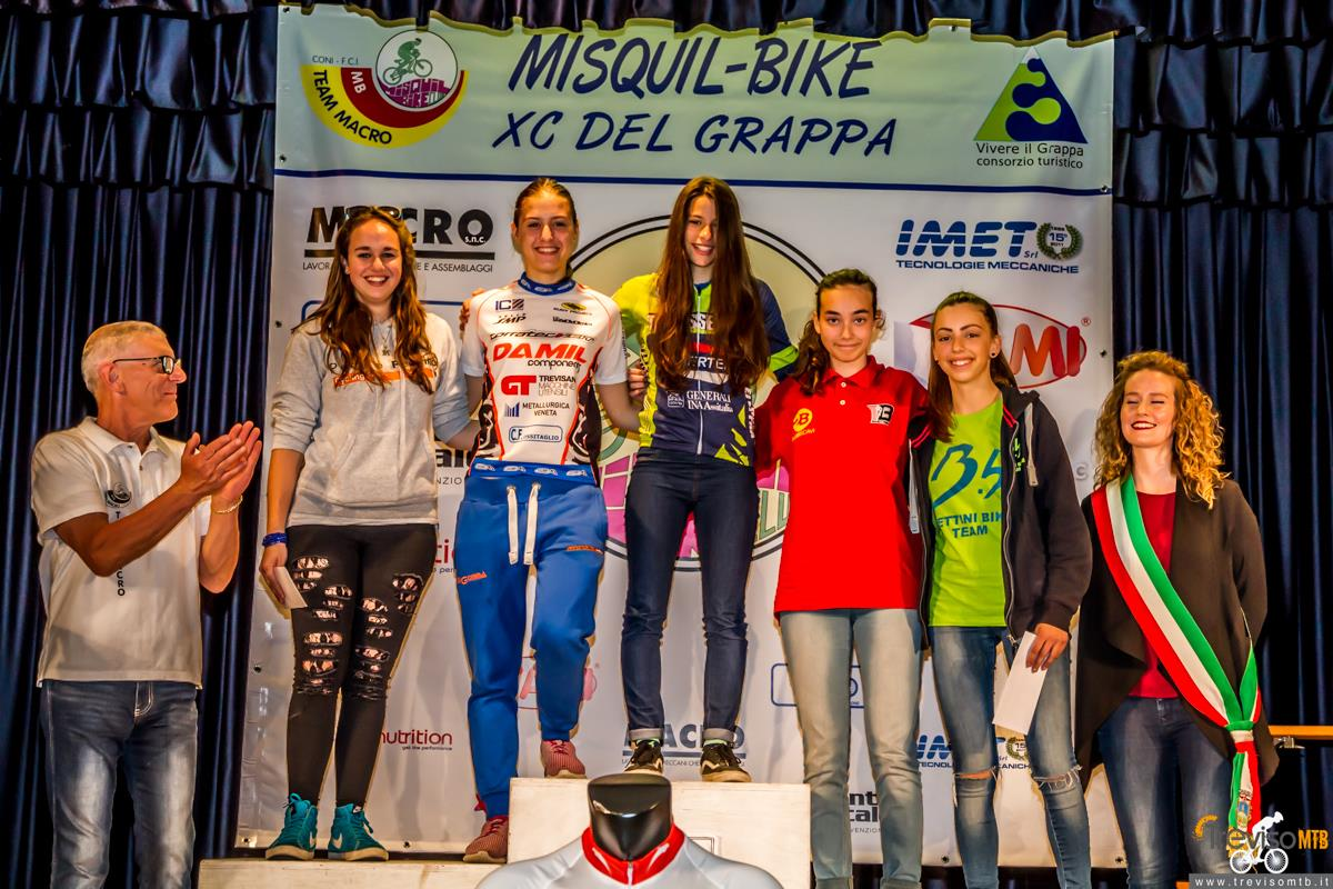 29a Misquil Bike Memorial Maurizio Scandiuzzi - Mussolente - 15/05/2016 podio donne allieve 2°anno